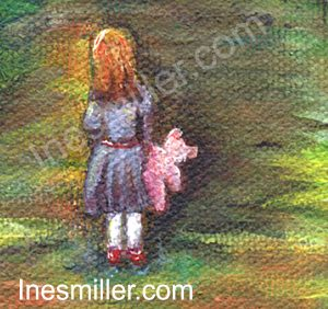 art painting for sale 6X6 small wall art decor - Ines Miller fine art